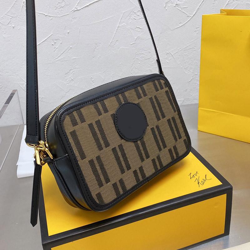 Crossbody Bag Cavas Camera Bags Women Real leather Handbags Zipper Wallet Fashion F letter Lady Clutch Square Box Street Style Handbag Purse