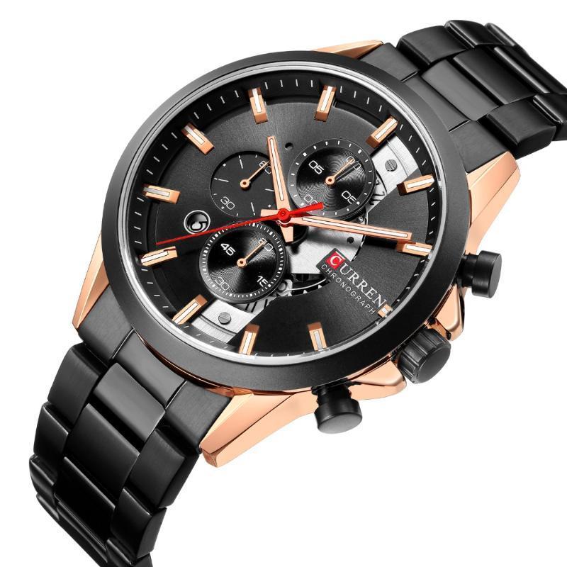 Armbanduhren curren 8325 uhr männer marke militär armbanduhren volle stahl berühmte geschäftsuhr wasserdicht relogio masculino