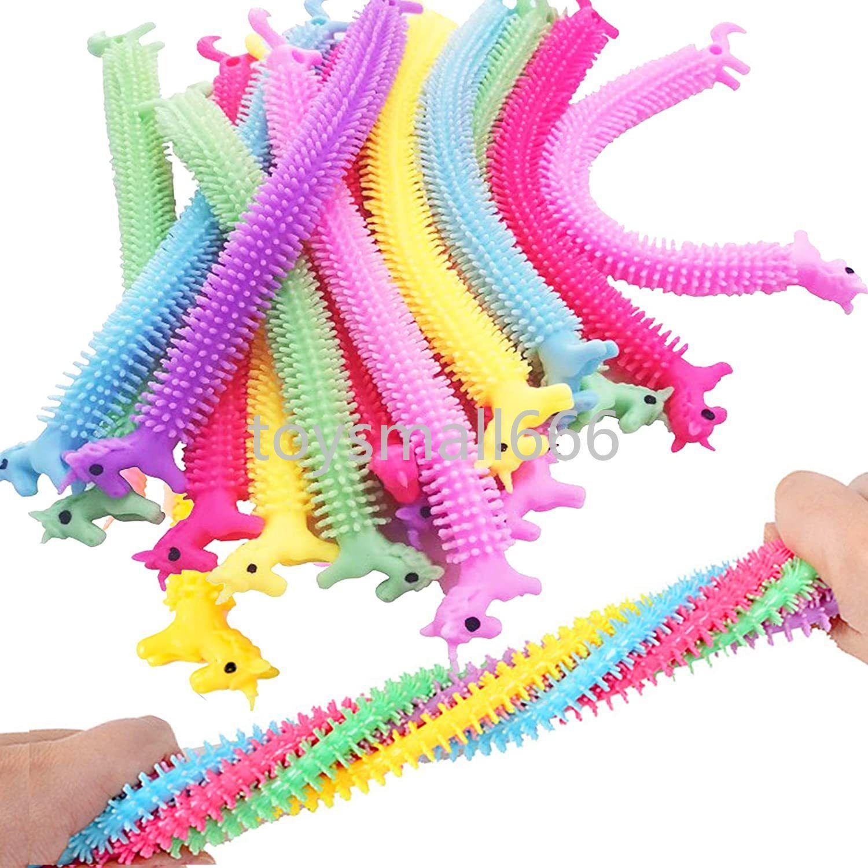 Licorne String String Fidget Toys, Thérapie Sensory Jouets Anxiété Squeeze Squeeze Nouilles de singe pour enfants et adultes avec ADHD 2021