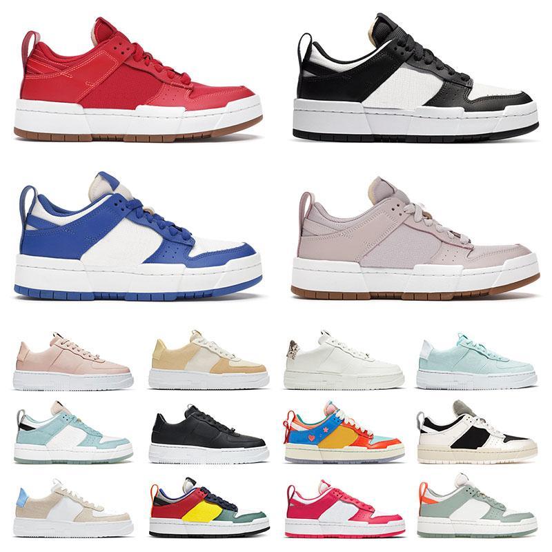 Ayakkabı Nike Dunk Low Disrupt Air Force 1 Pixel Airforce One AF1 Erkek Bayan Koşu Ayakkabısı Dunks Pale Ivory Ghost Dusty Pink Sea Glass Off White Spor Sneakers Eğitmenler