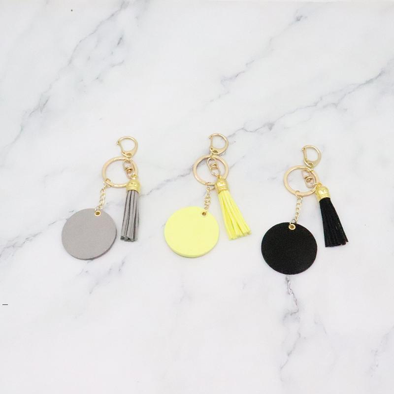 Moda Tassel Keychains Cor Sólida Chaveiro De Metal Decoração De Bagagem Keychain Pingente DIY Presente Chaveiro 10 Cores OWB8821