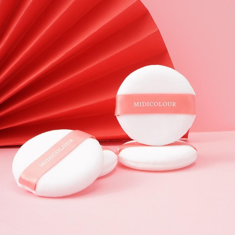 Pcs/Box Smooth Cosmetic Powder Puff Facial Plush Honey Soft Makeup Foundation Sponge Wet&Dry Dual-Use Girl Women Beauty Tool Sponges, Applic
