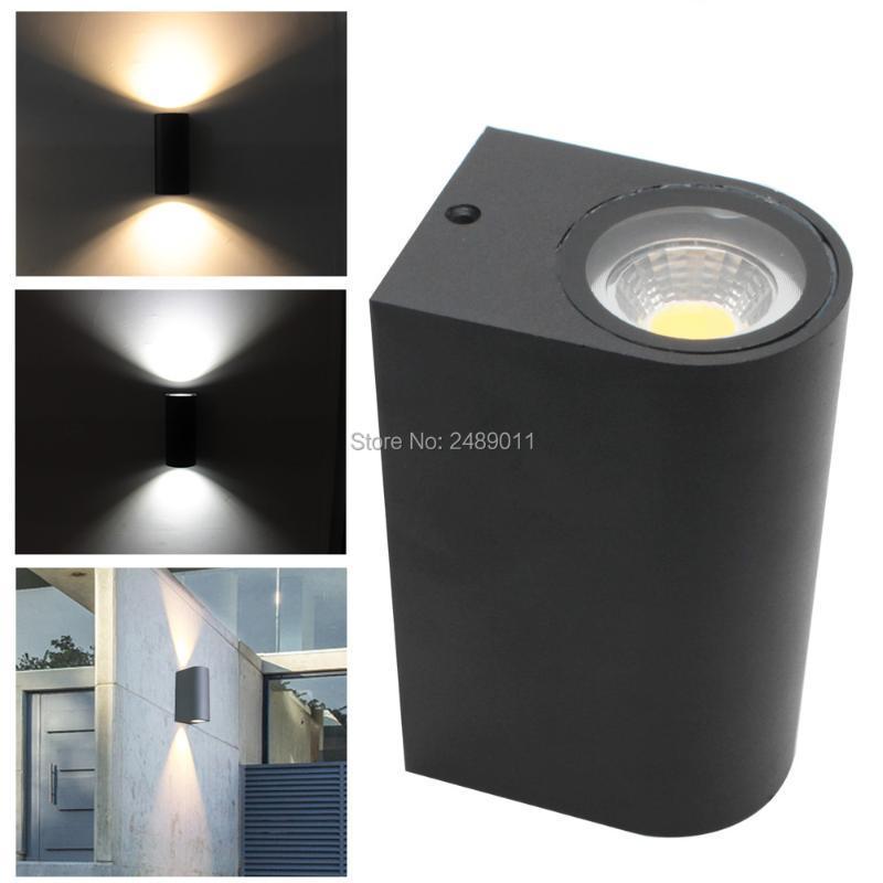 EST 디자인 IP65 6W 10W GU10 LED 벽 램프 위아래로 옥외 Sconce 조명 AC85-265V 브래킷 램프