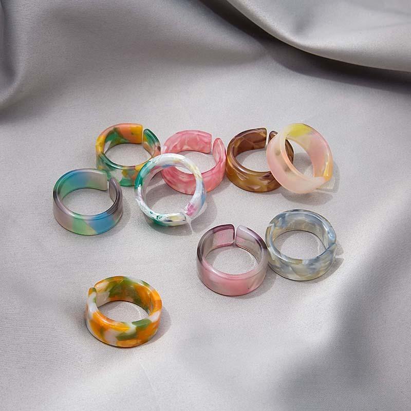 Coréen personnalisé acide acétique gradient de la texture de la texture de la texture de couleur filet filet exagéré pour femmes