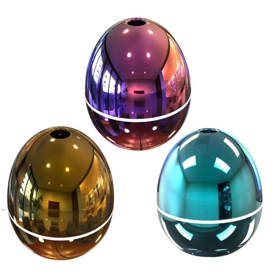 USB Mini Egg Humidifier with Colorful LED Light Portable Egg Tumbler Aroma Diffuser Auto Shut-off Humidifier for Car Home Office BWE6770