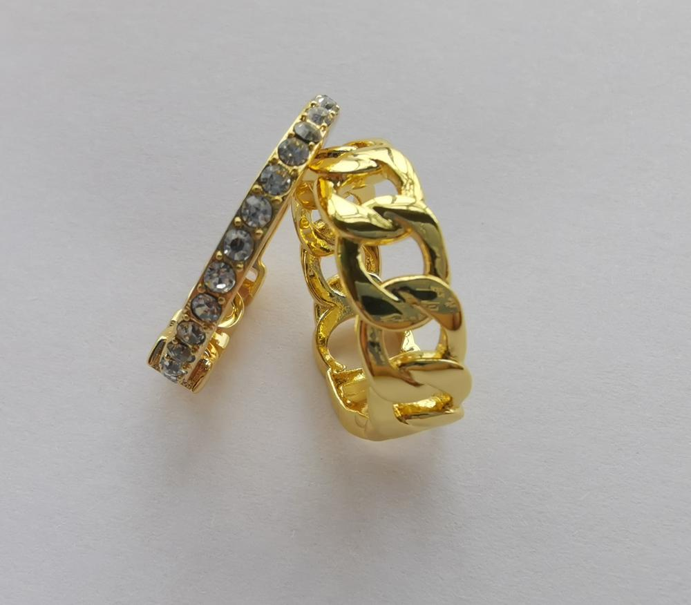 Fashion gold letter band rings bague for lady women Party wedding lovers gift engagement jewelry