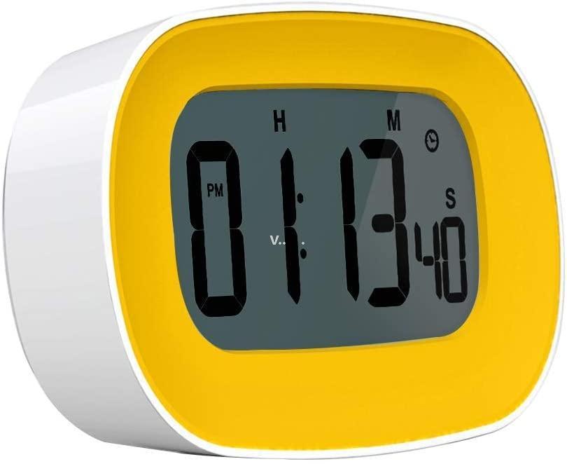 Цифровая кухня секундомер таймер будильник большие смелые цифры 12/24 час подсчет времени отсчет ZZF8632