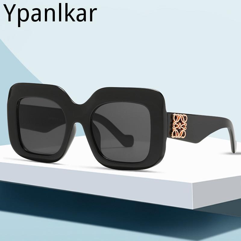 Бренд Солнцезащитные очки Женщины 2021 Роскошные Большие Квадратные Солнцезащитные Очки Негабаритные Винтажные Очки Очки Очки