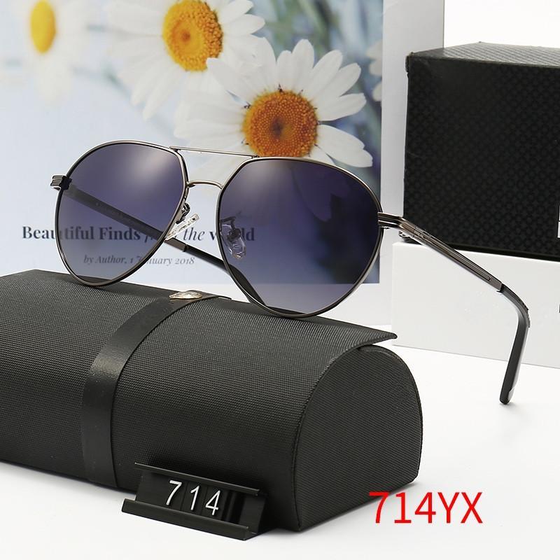 안경 타원형 운전 남자 그늘 여름 패션 디자인 남자 선글라스 714 평방 프레임 빈티지 스타일 UV 400 보호 야외 레트로 안경 WX14