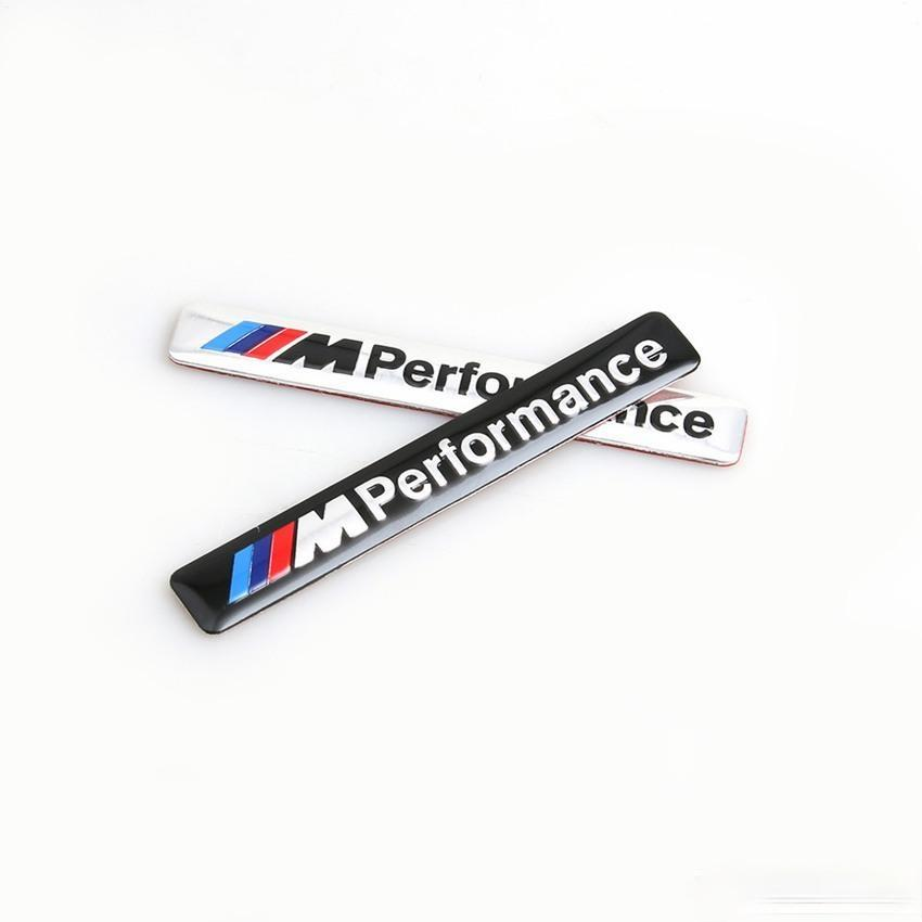 // m Performance M Power 85x12mm Motorsport Metall Logo Auto Aufkleber Aluminium Emblem Grillabzeichen für BMW E34 E36 E39 E53 E60 E90 F10 F30 M3 QC548