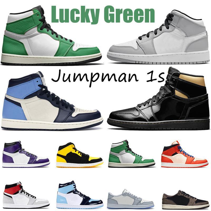 Nike air jordan retro 1 Çoraplı Jumpman 1 1s Bayan Erkek Basketbol Ayakkabısı Saten Siyah Burun UNC Metalik Altın Dijital Pembe Açık Eğitmenler Spor Spor ayakkabılar