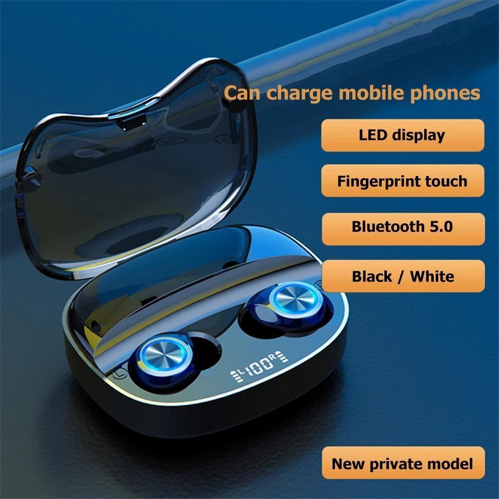 Истинные беспроводные наушники TWS Bluetooth Наушники Name Tws Наушники Stereo Sound Спортивная гарнитура с зарядкой 2000 мАч