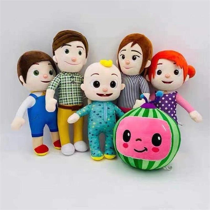 15-33cm Cocomelon 플러시 장난감 부드러운 호의 만화 가족 JJ 자매 형제 엄마와 아빠 장난감 Dall 키즈 Chritmas 선물 1200 Y2
