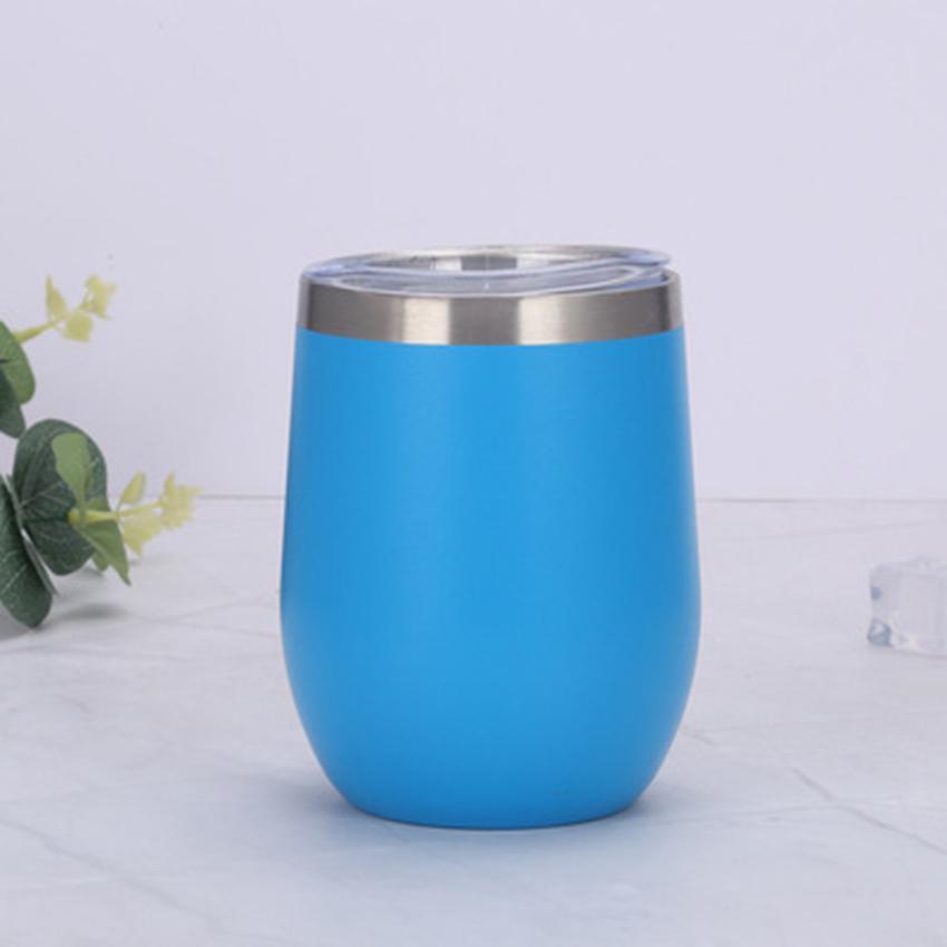 12OZ in acciaio inox tazze di bicchiere di bicchieri di bicchieri da vino tazza d'uovo bottiglia d'acqua sottovuoto birra con coperchio cyz3247