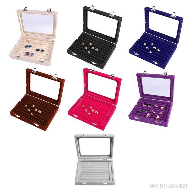 Schmuckbeutel, Taschen Samtringe Display Tray Ohrring Aufbewahrungskoffer Box Makeup Organizer J19 21 Tropfen