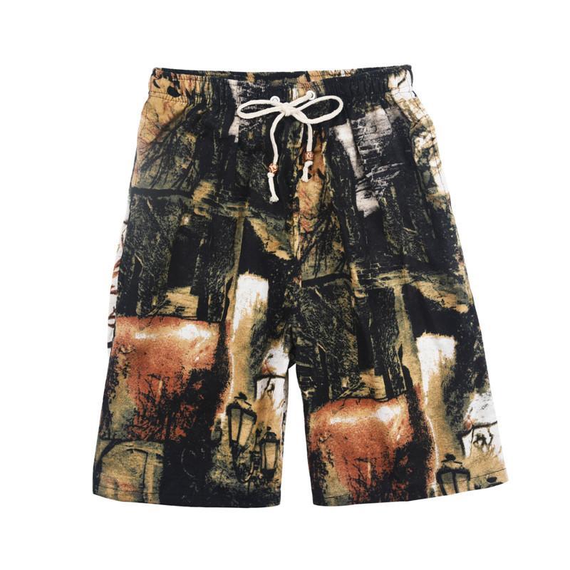 2021 Pantaloncini da calcio Summer Style Hot Style Cotton and Lenzy Stampato Big Pantaloni Big Pants Beach Uomo BBB555