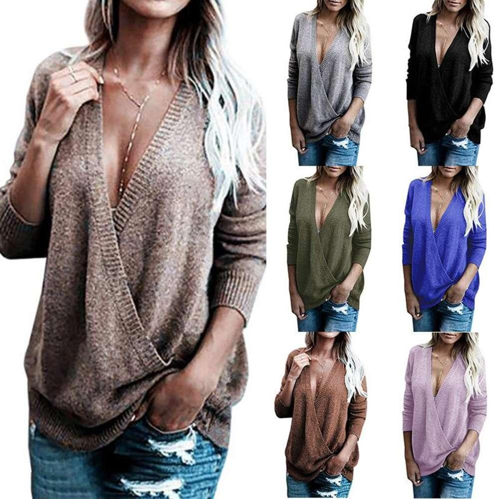 Женский свитер зимняя одежда свитера для женщин пуловер свитер V шеи волосы шить свитер повседневный стиль