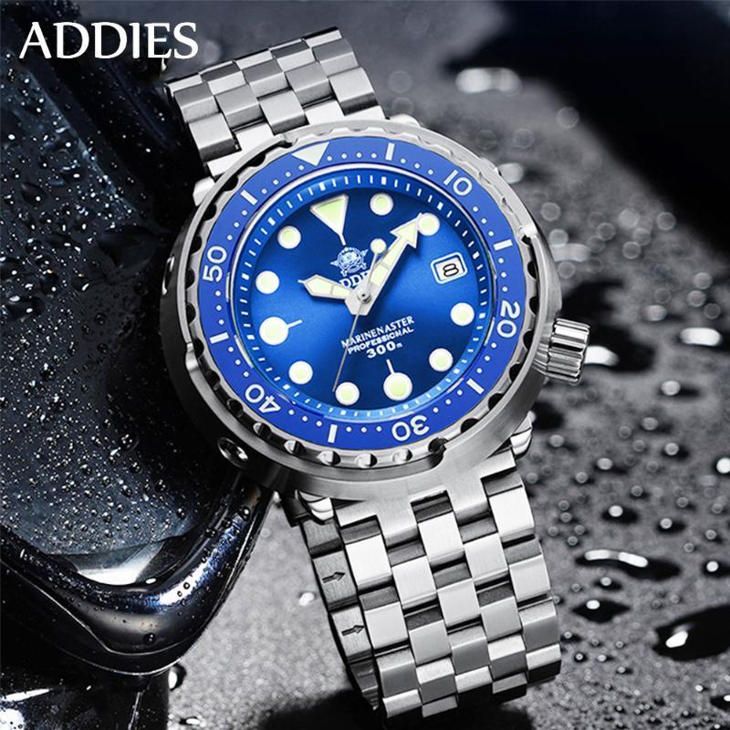 Adies 300m Mens Diver Watch À Prova D 'Água NH35 Movimento Mecânica Luxo Sapphire Cristal Luminous Automatic WristWatches