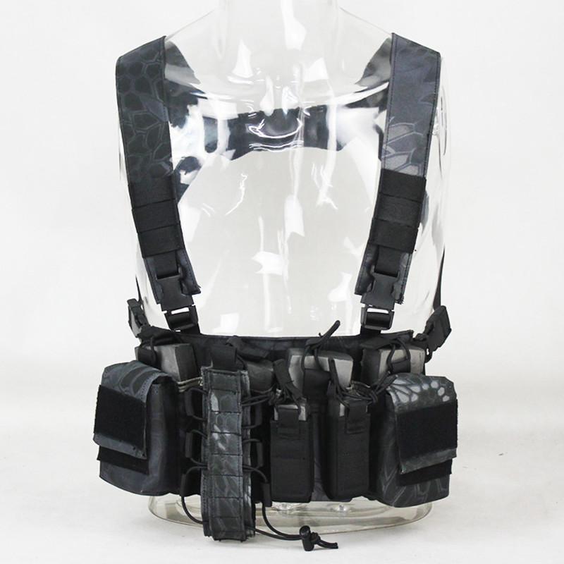 Jaquetas de caça CS Match Wargame Rig Rig Rig Tatical Vest Engrenagem Militar Engrenagem Malda Malster Sistema Molle Sistema Cintura Homens Nylon Swat