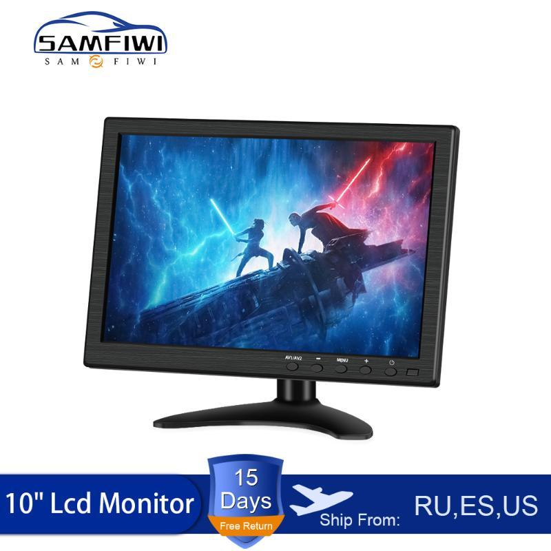 Car Video 10 Inch LCD HD Headrest Monitor HDMI/VGA/AV/USB/SD TV&PC 2 Channel Input Security DVD Player With Speaker