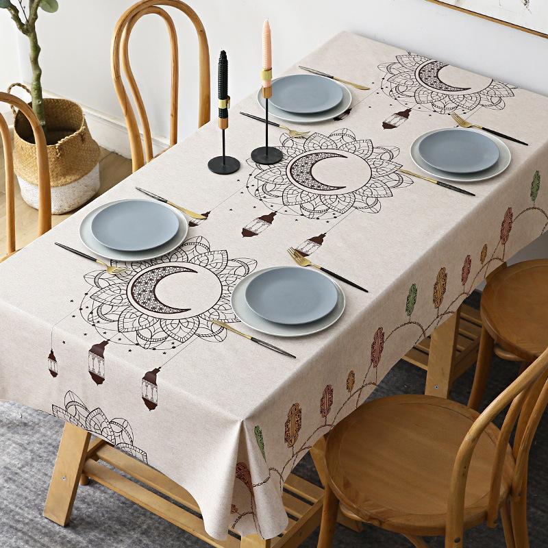 Pista de la PVC Pista impermeable sobre las telas de la tabla de la tela de aceite para la decoración de la cocina.