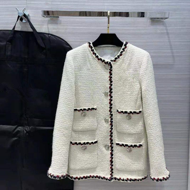Avrupa ve Amerikan kadın giyim 2021 kış yeni stil uzun kollu yaka tek göğüslü moda ince düğme tüvit ceket