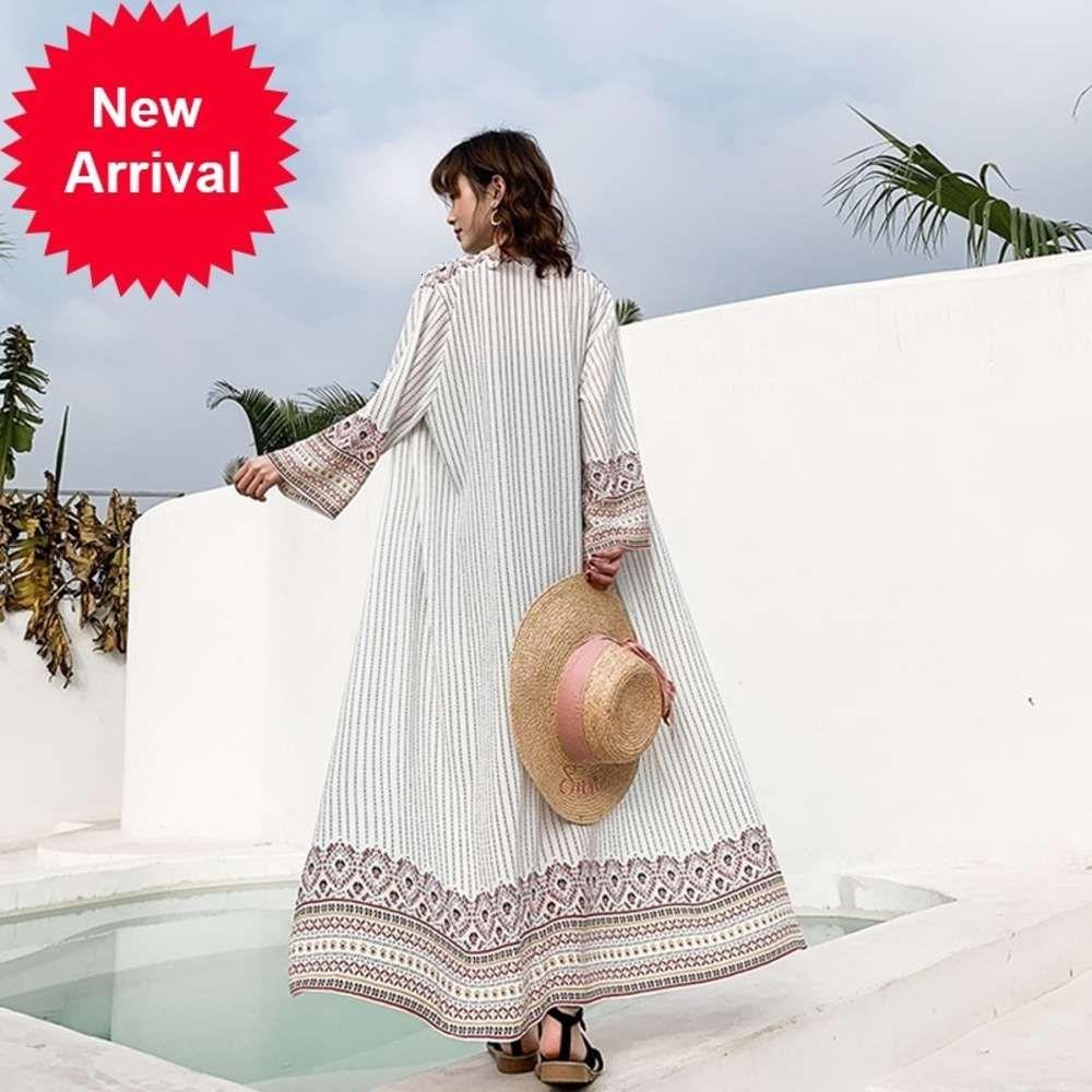 Kimono Cardigan Mujeres y Blusas Playa Sunntscreen Boho Chic Mujeres Mexicanas Tops Verano 2019 Camisa larga Mujer blanca DD2196