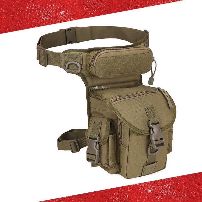Camouflage TACT TACTIQUE LEG SAC 1000D NYLON NYLON Randonnée en plein air Escalcier Moto Drop Bags Packs de tir