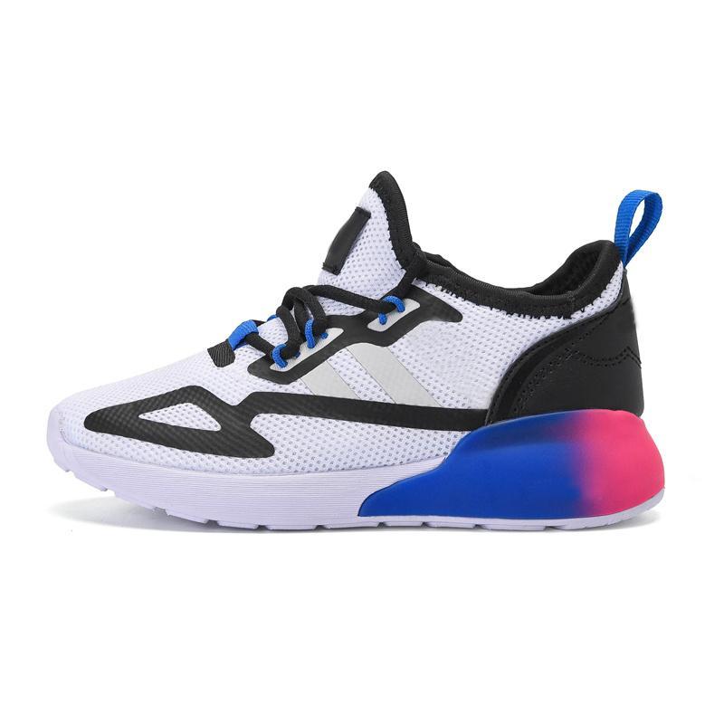 ZX2K Yaz Nefes Örgü ZX 2 K Çocuk Koşu Ayakkabıları Erkek Kız Gençlik Çocuk Spor Sneaker Boyutu 28-35