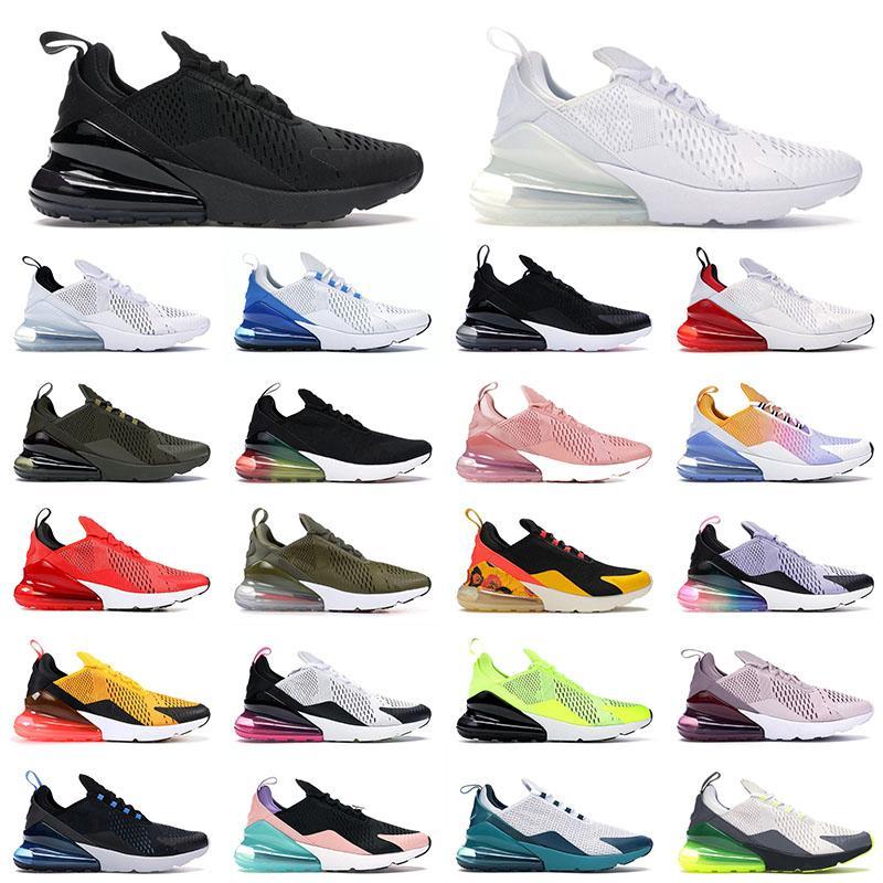 nike air max airmax 270 270 Sport Chaussures De Course Triple Noir Tout Blanc Femmes Hommes Top Qualité Été Gradient Photo Bleu Hot Punch 270s Baskets Baskets TAILLE 36-45