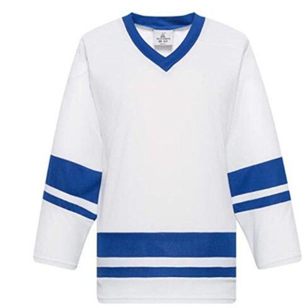 Hombres en blanco Hockey sobre hielo jerseys venta al por mayor práctica de hockey camisas de buena calidad Tamaño S-3XL 009