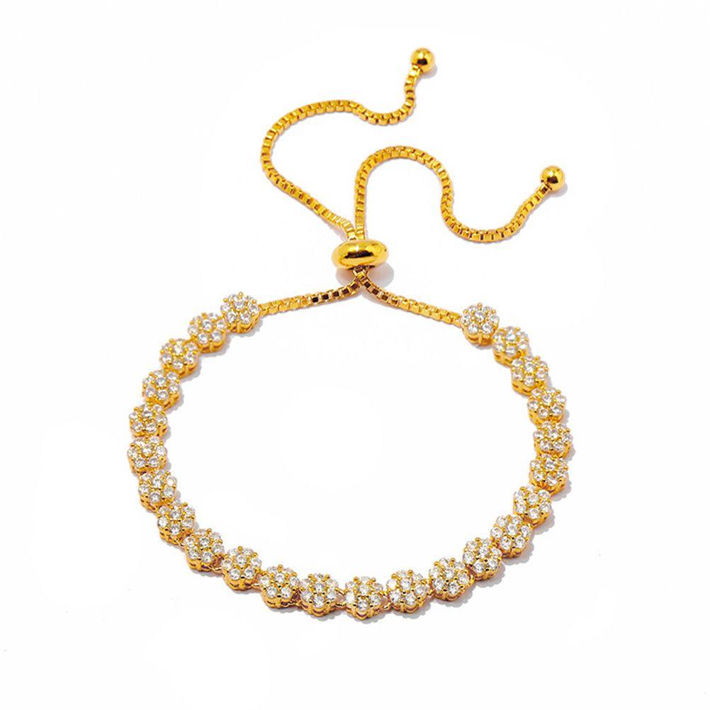 Moda classica squisita diamante a quattro foglie trifoglio cristalli cristalli clavicola catena braccialetto 18 carati in oro per van womengirls matrimonio gioielli di San Valentino regalo