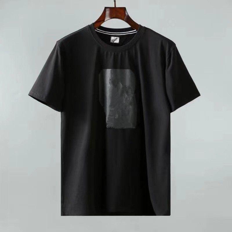 Cptopstoney 여름 추세 느슨한 티셔츠 남성 순수 코튼 간단한 짧은 소매 솔리드 컬러 백킹 패션 브랜드 폴로 셔츠