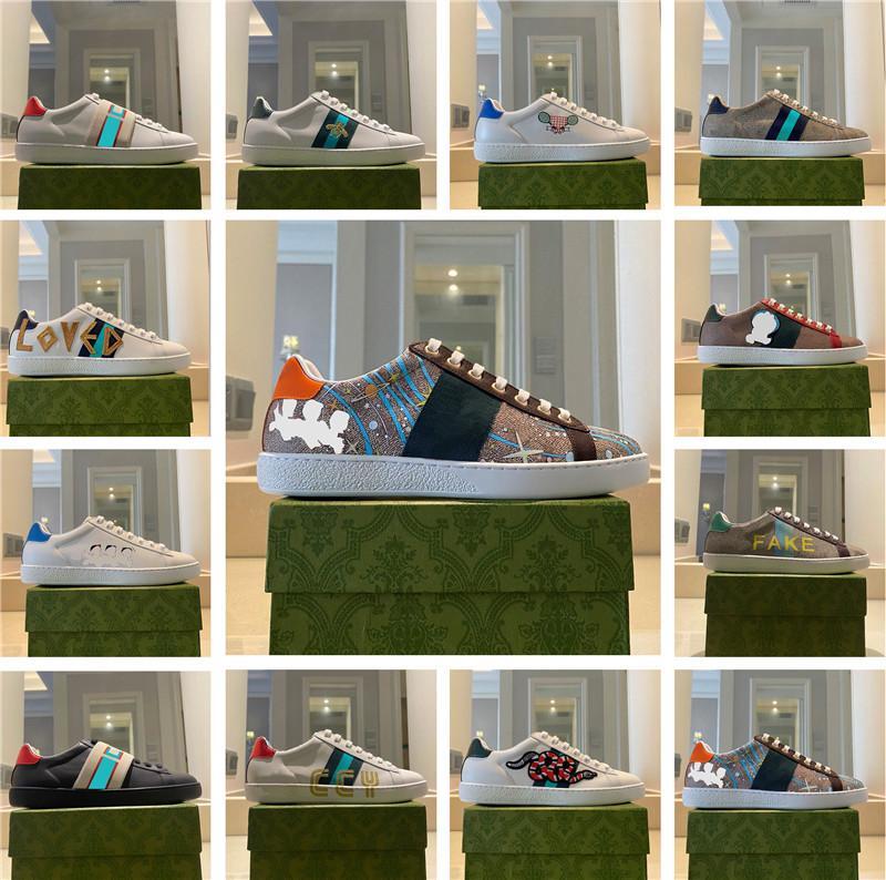 2021 Femmes et hommes Sneaker Fashion Luxurys Designers Casual Chaussures pour femme Plus de formatrices de plate-forme de couleur Marche Sneakers avec boîte taille 35-45