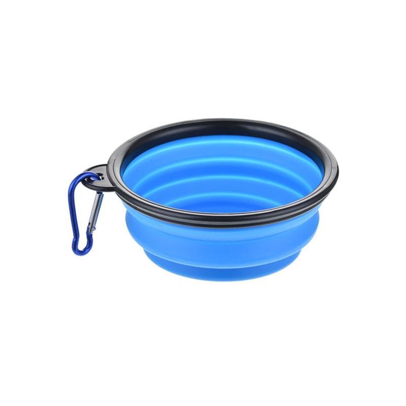 Los tazones de alimentación de gato y perro plegables de nuevo viaje están disponibles con alimentadores de bandejas de agua para mascotas y cuencos plegables de silicona con ganchos 207 v2