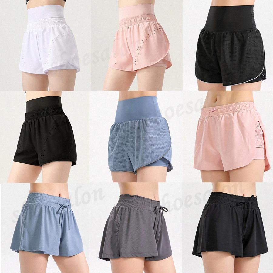 2021 Estilista para mujer Lu Shorts Vfu Yoga Pantalones Pantalones Leggings Yogaworld Designer Mujeres Entrenamiento Fitness Conjunto de fitness Use Lady Elástica Mallas Completas Solid Q5S6 #