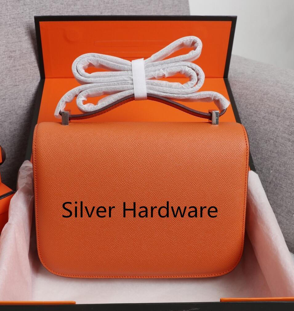 19 cm 24 cm Donne Donnersys Designer Borse 2021 Borsa a tracolla ESPOM ESPOM Genuine Pelle Silver Hardware Borsa a tracolla Fashion Lady Totes