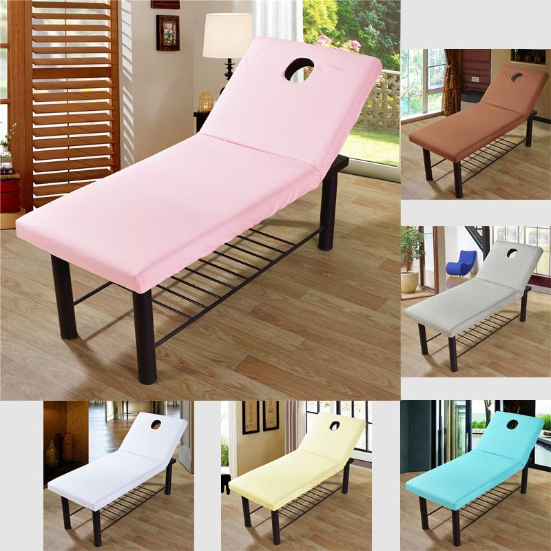 Solid Bed Sheet Beauty Massage Fitted Cover Polyester Elastic Rubber Band SPA Treatment With Breath Hole Sheets & Sets