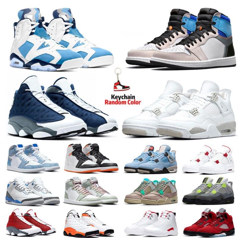 4s Basketbol Ayakkabıları Erkek 5 S Raging Bull UNC 6 S Beyaz Oreo Yangın Kırmızı Prototip 1 1 s 12 S Lagün Nabız Erkek Spor Sneakers Eğitmenler Boyutu 5.5-13
