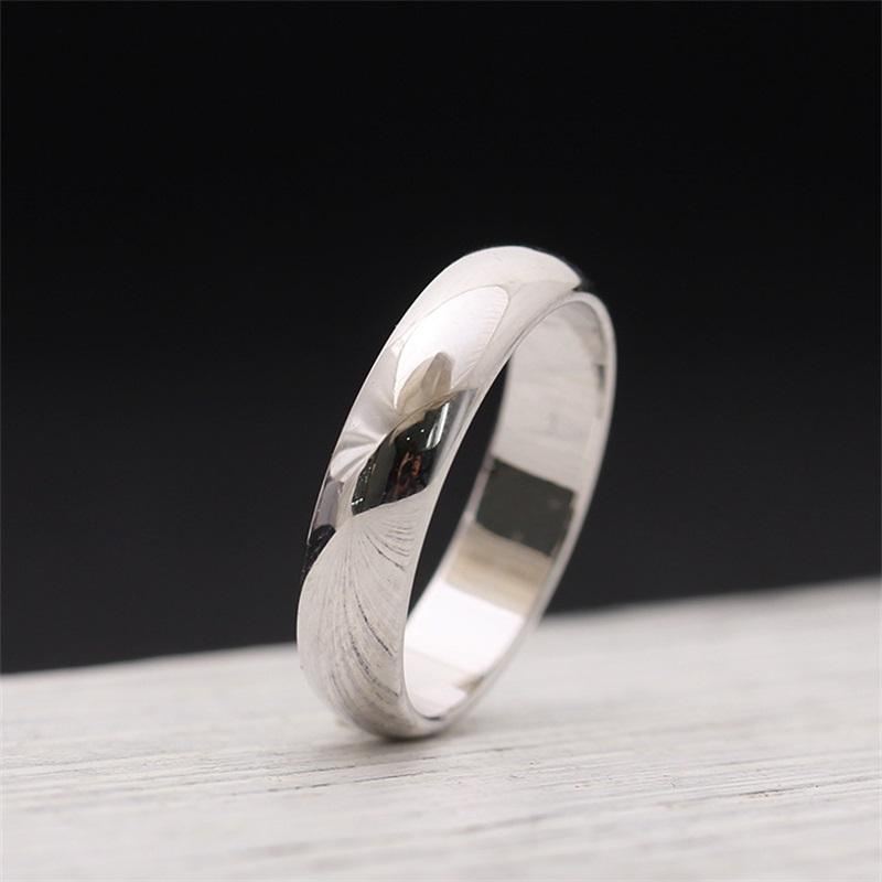 Os amantes de superfície anéis 18k rosa ouro e prata 316L aço inoxidável para mulheres e anéis de banda de homem em jóias de 0,45cm de largura 165 Q2