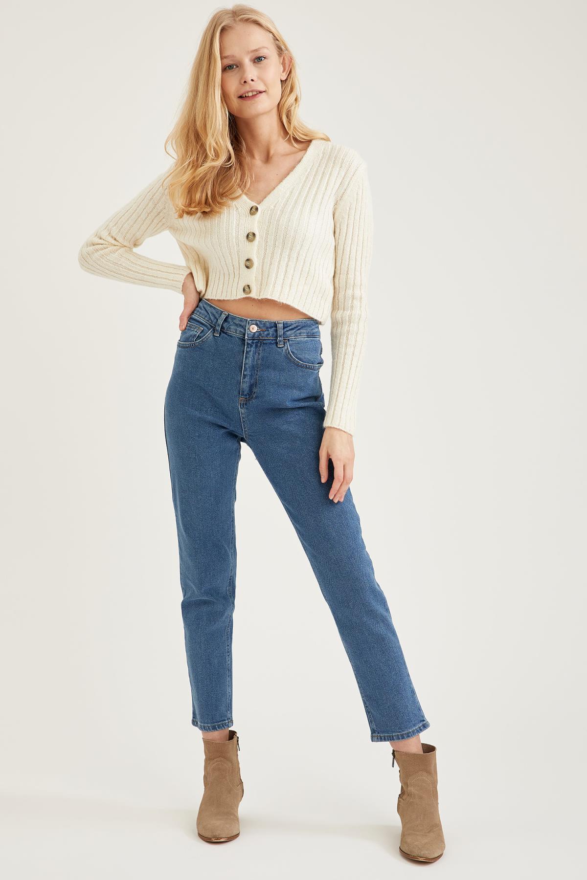 Outono mulher denim vintage magro alta cintura jeans streetwear calças estéticas algodão moda elástica