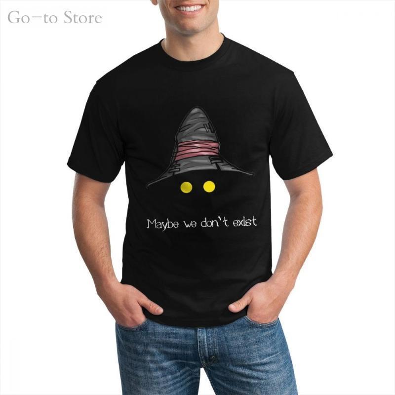 Peut-être que nous n'existons pas - Final Fantasy IX (Vivi) T-shirt Imprimé Coton Casual Coton court CN CN (Origine) T-shirts des hommes peignés