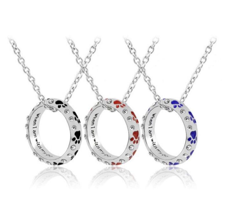 Preto vermelho esmalte cão pata pega anel de dedo anel para unhas para mulheres jóias