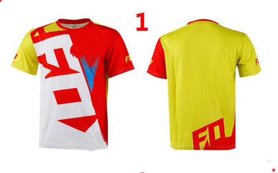 2021 Summer Motorcycle Racing T-shirt a maniche corte in poliestere in poliestere in downhill jersey con la stessa abitudine