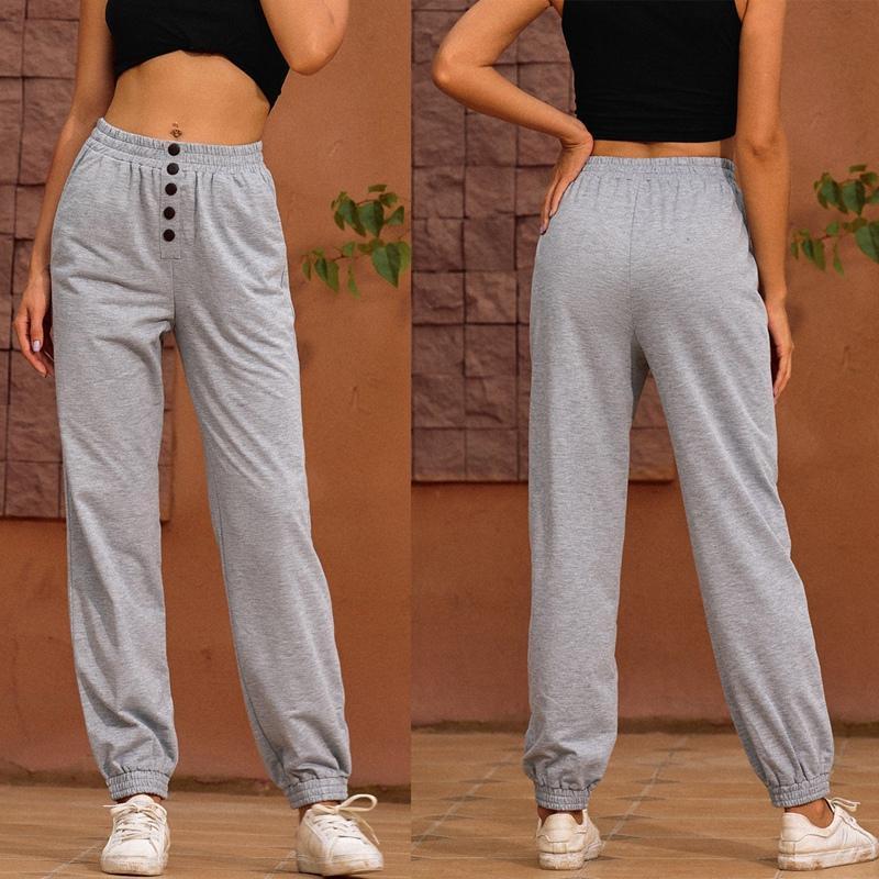 Mulheres moletom casuais calças soltas moda alta cintura feminina feminina calças folgadas mulheres capris
