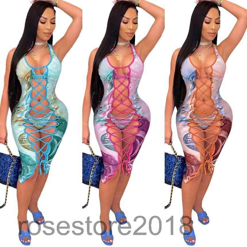 2021 المرأة تراكسويت الأزياء المطبوعة بيكيني ضمادة أعلى ثلاثة قطعة انقسام ملابس السباحة مصمم مثير حبال ثونغ biquini مع الجوف خارج الشاش اللباس