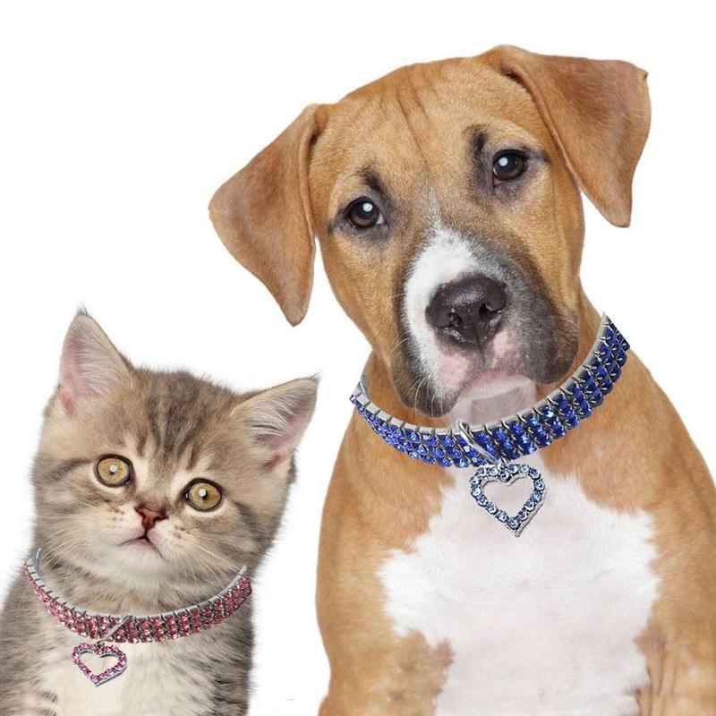 Köpek Pet Yaka Kolye Küçük Kız Için Rhinestone Kemik Kolye Malzemeleri Feasuses ile Bling