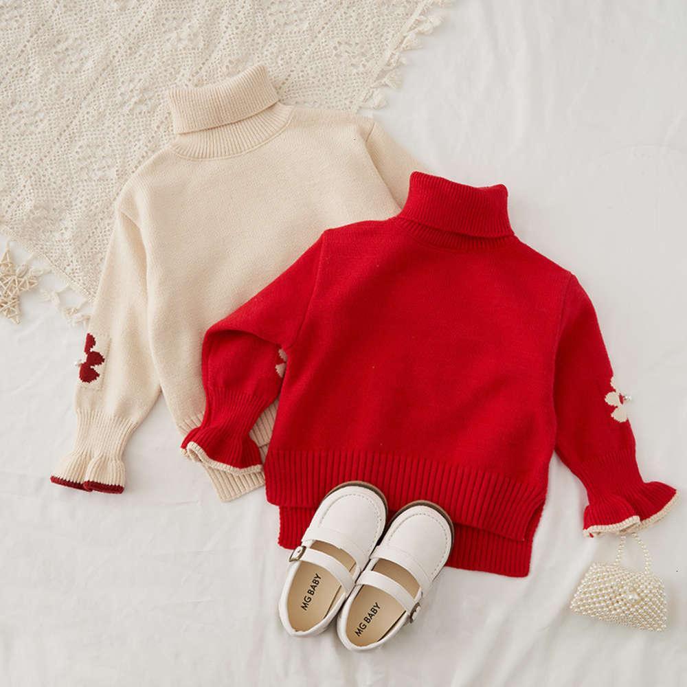 Enfants Vêtements et pull pour enfants Pull d'hiver Pull coréen Knitwear Automne Boîte De Bottométrée Filne Chevle de fil