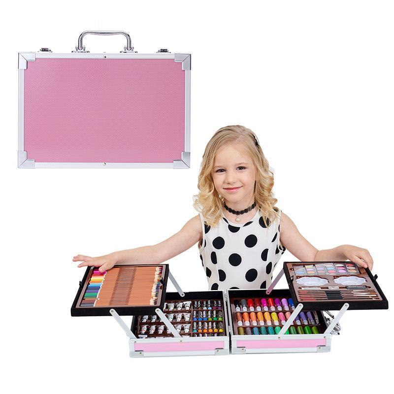 145 Peinture aquarelle Stylo Set School Fournitures de l'école pour enfants Crayons Crayons de dessin élémentaire