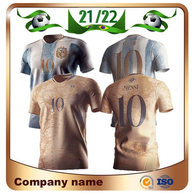 20/21 Argentina Maradona Edição Comemorativa Jerseys 2021 # 10 Messi 200th Aniversário Dybala Aguero Celso Martinez Camisa de Futebol Uniformes